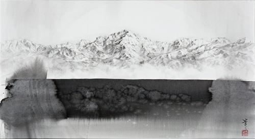 水墨画 日本 風景 立山